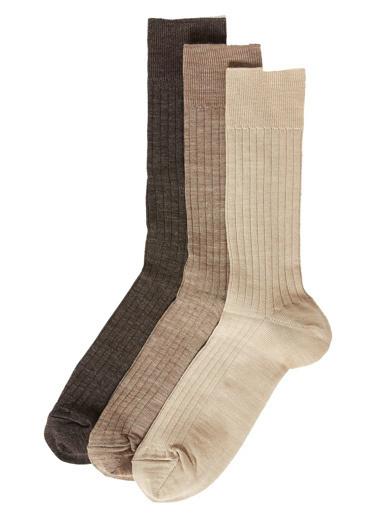 Marks & Spencer 3'lü Çorap Kahve